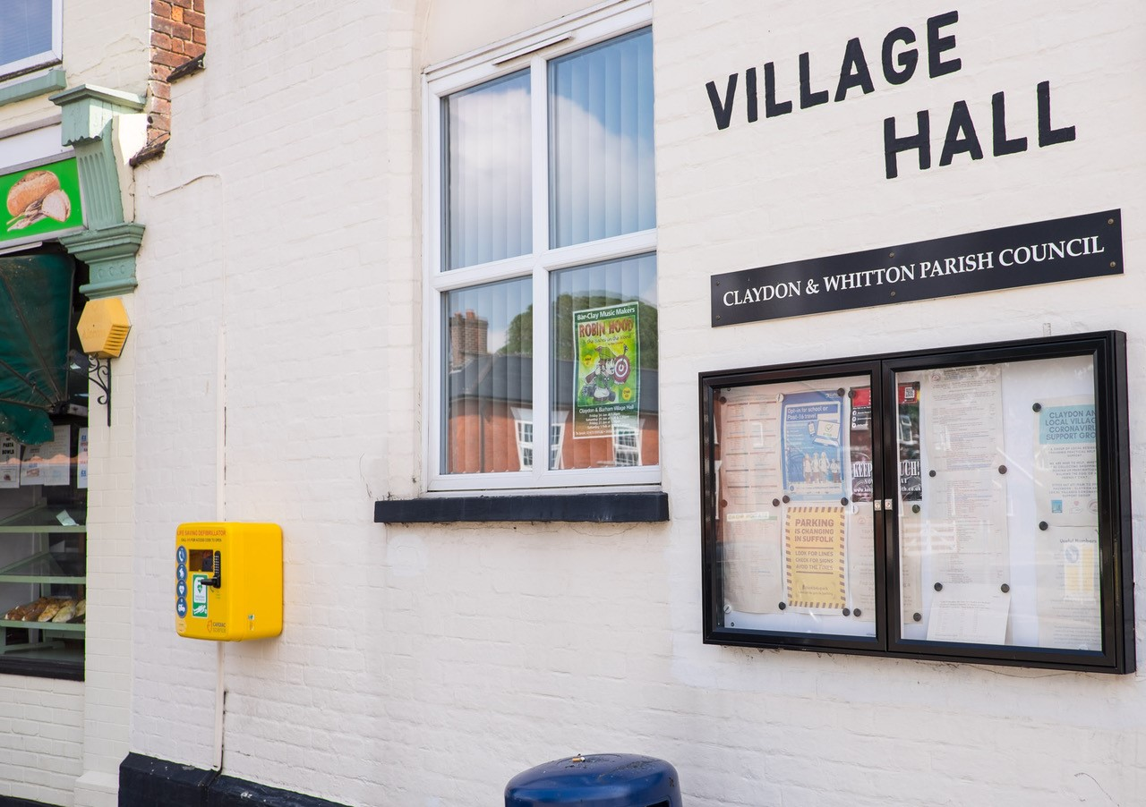 New Defibrillator at Village Hall